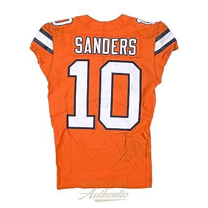 best website a19fa 8d06a Emmanuel Sanders Game Worn Denver Broncos Jersey & Pant Set ...