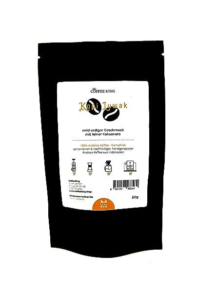 Kopi Luwak 100% Arabica Café molido 50g (Café de los gatos de la vida silvestre)