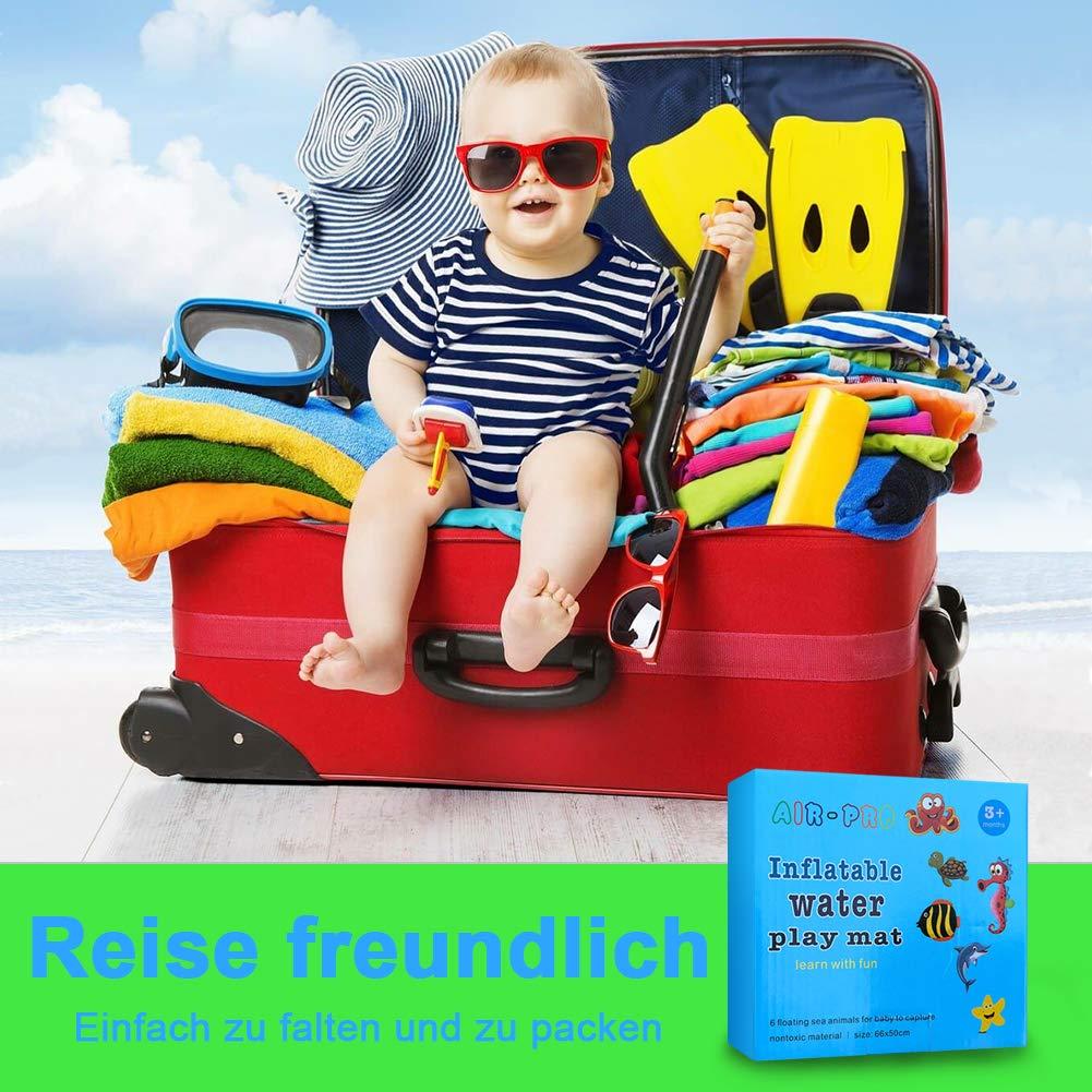 Baby Wassermatte Aufblasbare PVC Wassergef/üllte Spielmatte f/ür Kinder und Kleinkinder Spieldecke 60x50cm StillCool Aufblasbare Spielmatten Blau-1