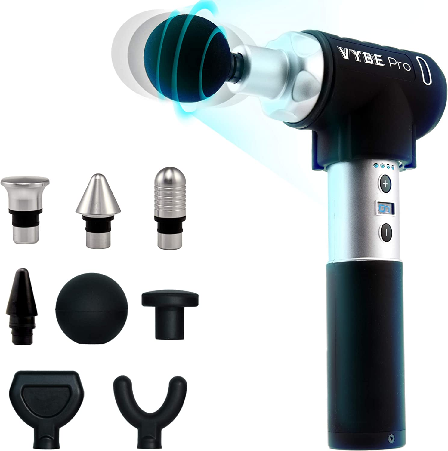 VYBE Percussion Massage Gun - Pro Model -Muscle Deep Tissue Massager -Quiet, Portable, Electric, Hand held, Body Relaxation: Health & Personal Care