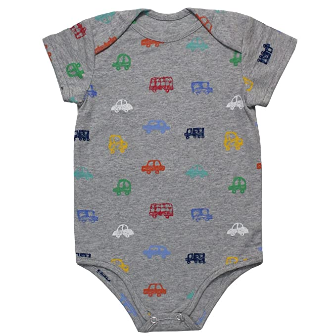 Kadambaby Unisex Bodysuit (KBBS0003CR_Grey_3-6 Months) Boys' T-Shirts at amazon