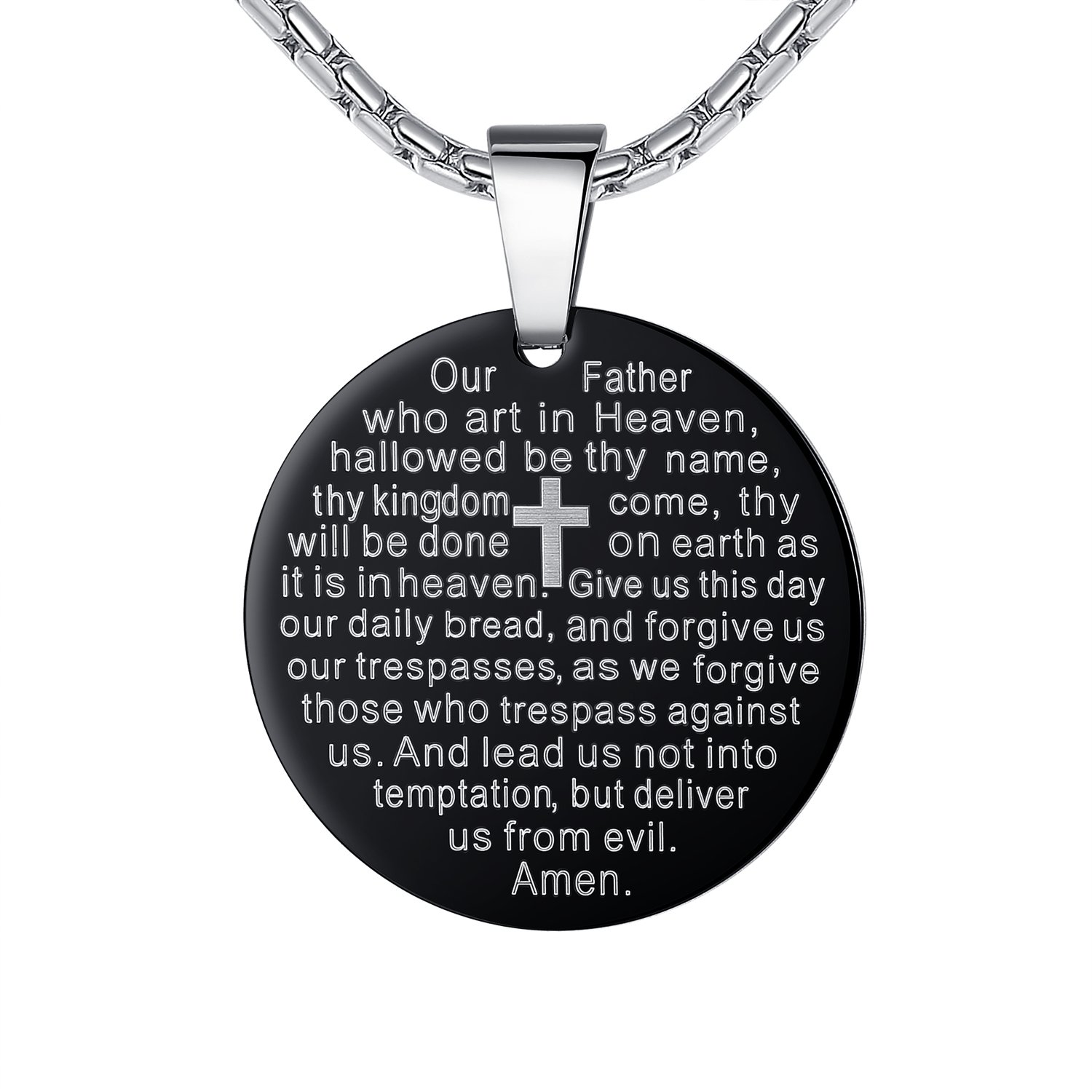 pendant lord serenity beautiful an engraved tag oval stainless itm steel on necklace prayer religion god