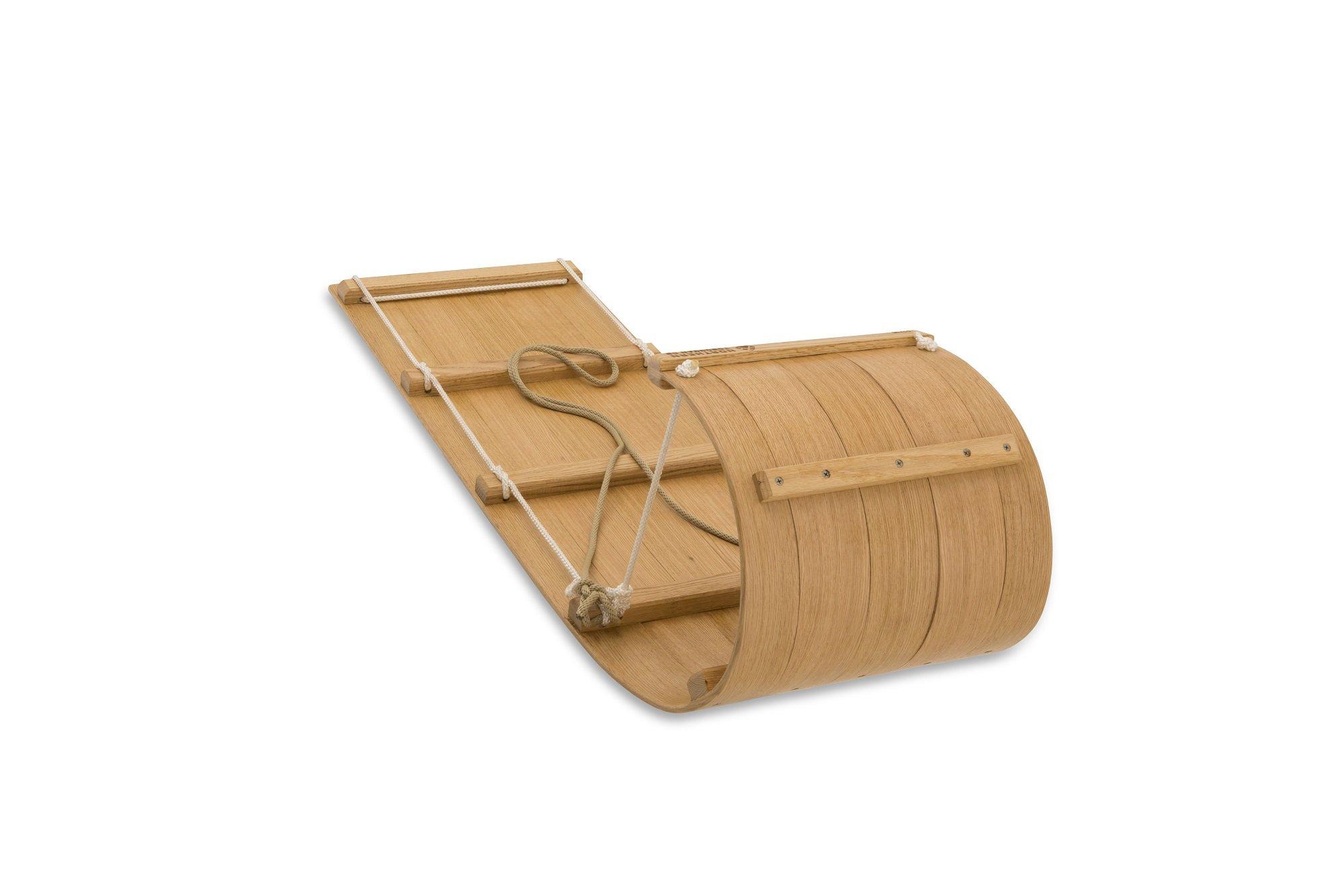 Little Classic Wood Toboggan - 4 foot Downhill Toboggan