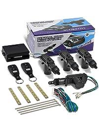 DNA Motoring DNA DL-T4-2B-BK Black Door Power Lock Conversion Kit w/Remote
