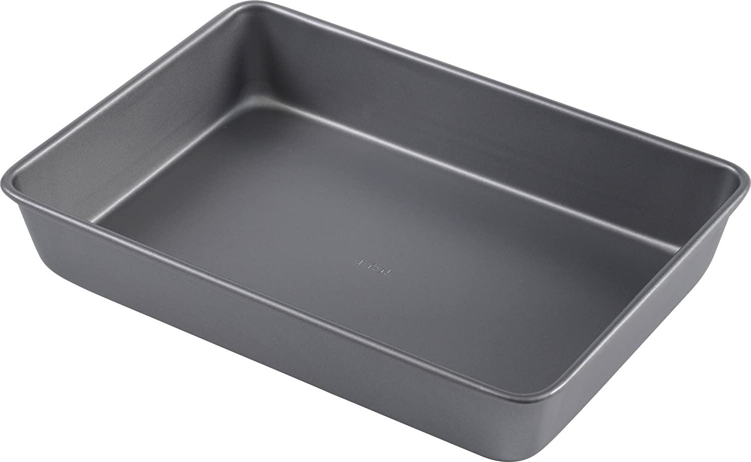 "T-fal 84886 Commercial Oblong Nonstick Cake Pan, 9"" x 13"", Gray"