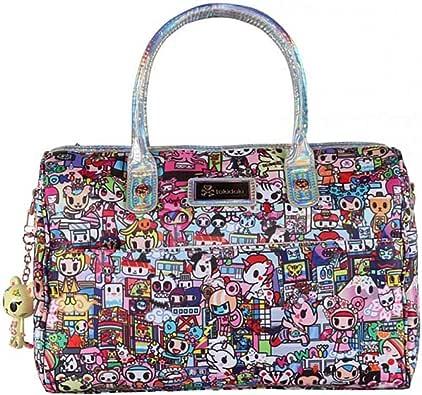 Tokidoki KAWAII METROPOLIS Bowler Satchel Handbag , Pink/Hologram