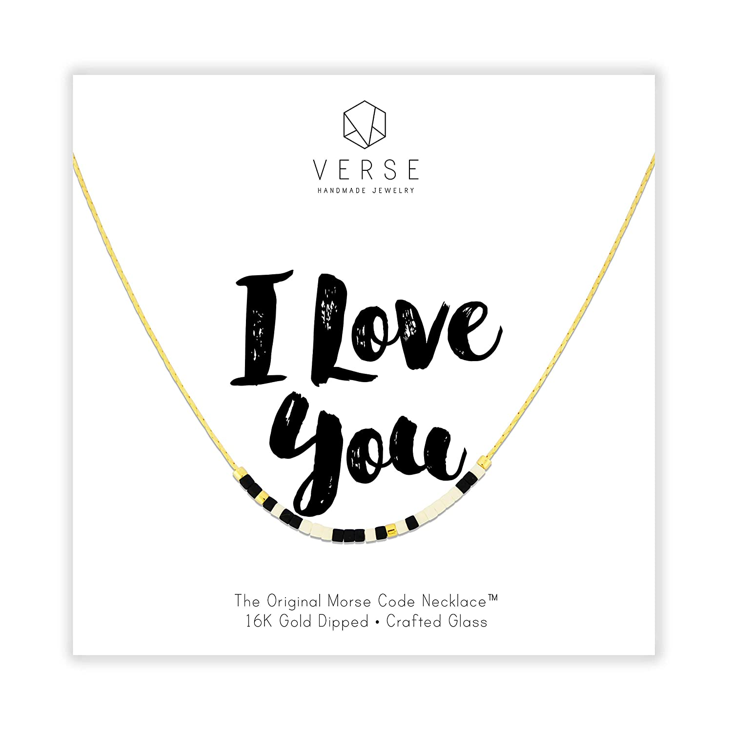 Gold Wedding Anniversary I Love You Morse Code Necklace To the Moon Back From Daughter Mom Long Distance Relationship Forever More Gifts for Wife Girlfriend A Bushel and a Peck 18 Inch