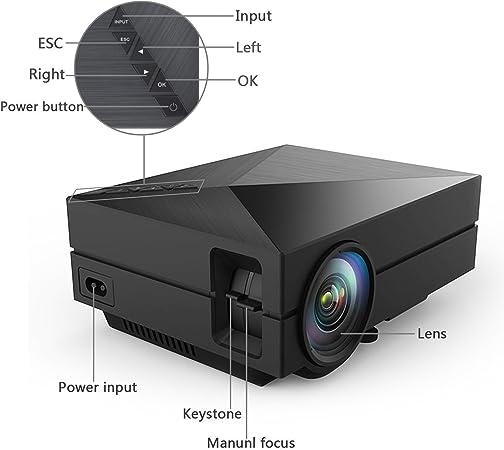 Amalen GM60 Mini LED Projector LCD 800 Lumens Multi-Media Portable Home Theatre Game Fun Projectors