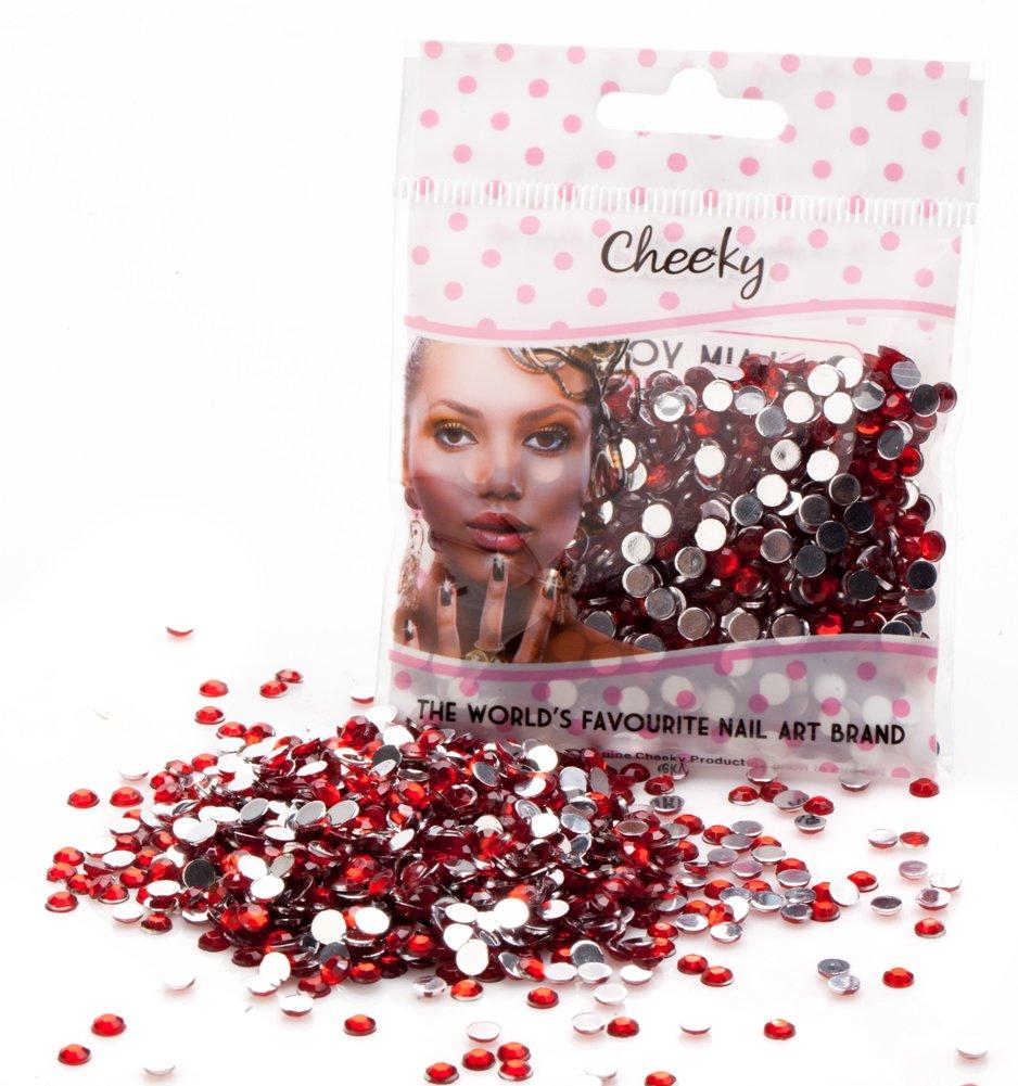 Pack 1000 4mm Flat Back Ruby Red Gems Rhinestones Jewels Crystals by VAGA Cheeky
