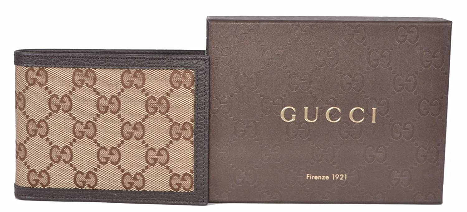 57af0a872e2 Gucci Men s Canvas Guccissima GG Trifold Passcase ID Wallet (Brown Beige)   Amazon.co.uk  Clothing