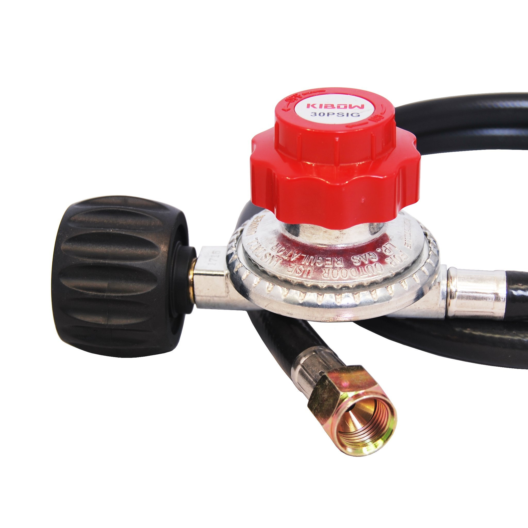 KIBOW 0~30PSI High Pressure Adjustable Propane Regulator with 4FT Hose-Type 1(QCC 1) Connection-CSA Certified by KIBOW (Image #3)