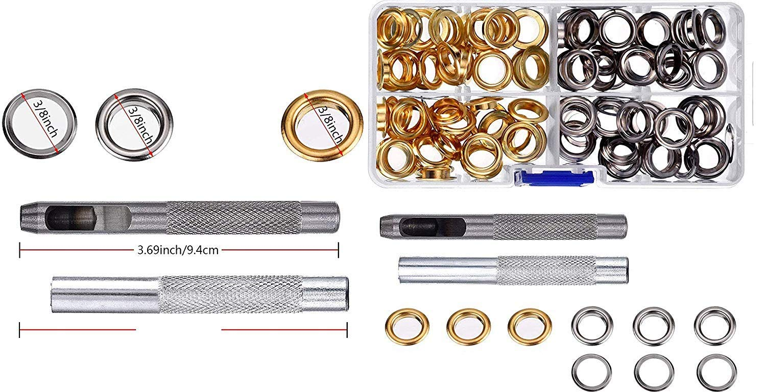 3// 8 Inch Pangda Grommet Kit with 100 Set Grommets