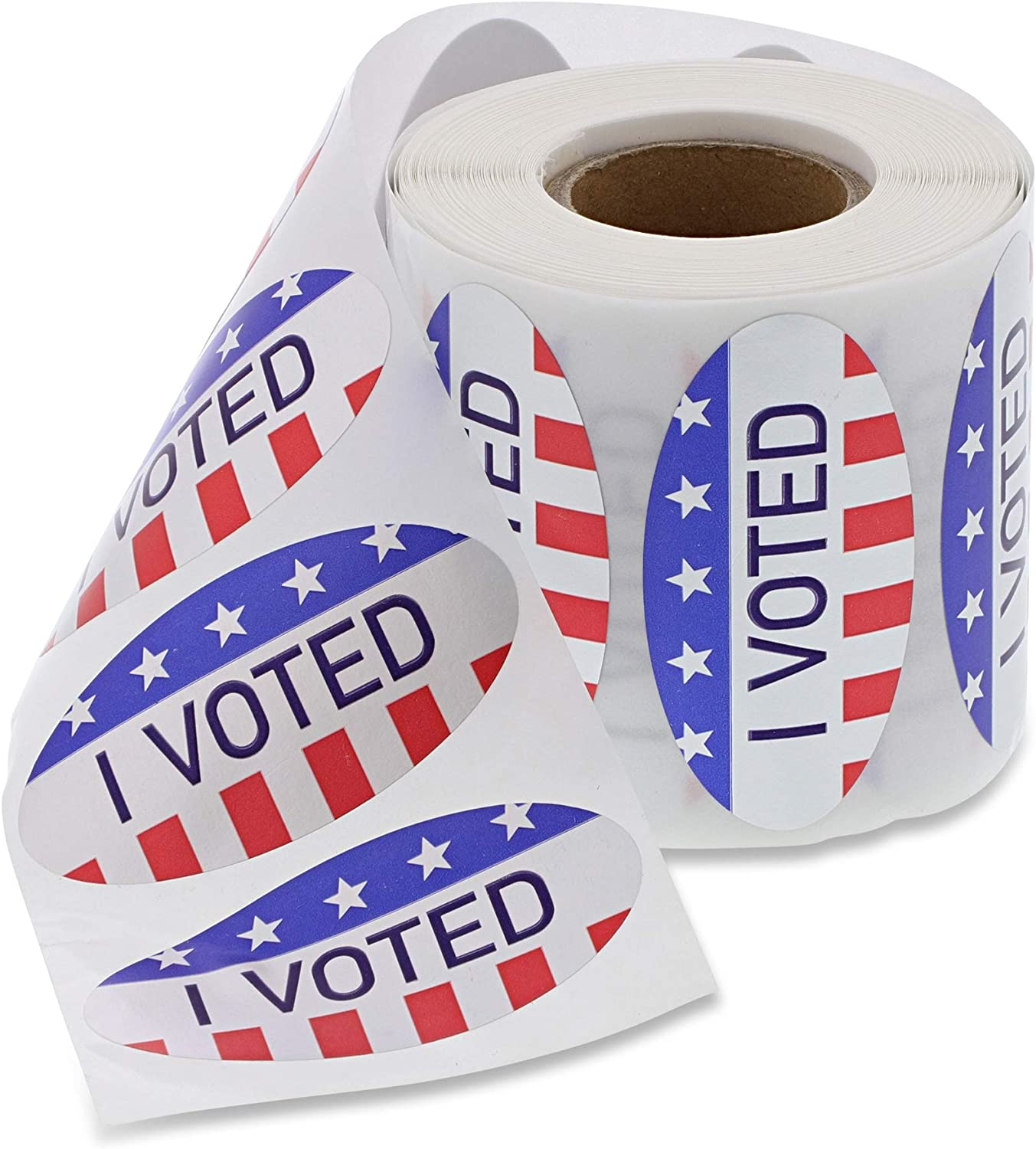 USA Flag Design 500 Count Juvale Foil Voting Stickers 2 x 1 Inches I Voted