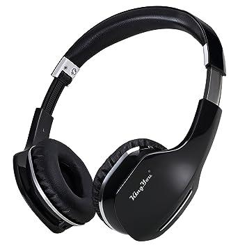 Kingyou auriculares ligeros auriculares Bluetooth estéreo inalámbrico + Wired Auricular plegable con micrófono y Control de volumen para iPhone y Android: ...