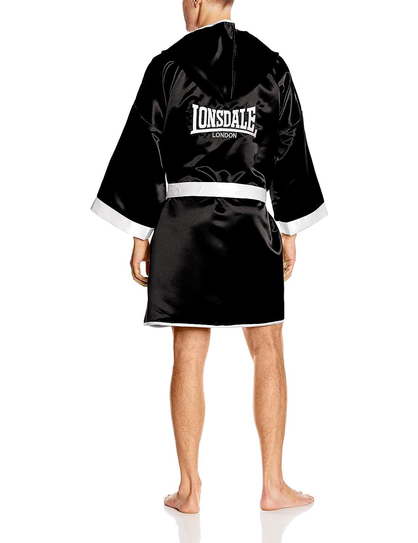 Lonsdale - Guantes de Boxeo para Hombre Concurso Albornoz/Albornoz, Unisex, Boxen-Wettbewerb Robe/Kleid, Blanco y Negro: Amazon.es: Deportes y aire libre