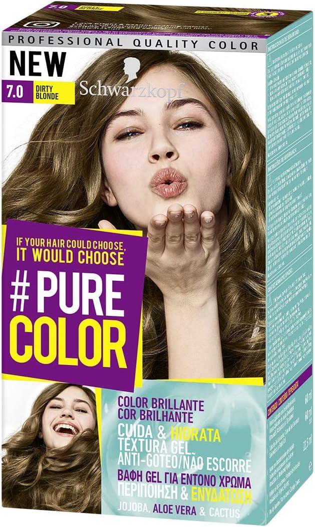 Pure Color de Schwarzkopf Tono 7.0 Smokey Blond - 2 uds - Coloración Permamente