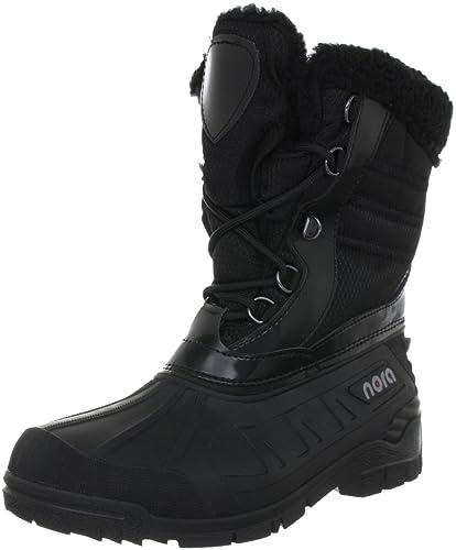 Nora TINA, Damen Warm gefütterte Schneestiefel - Schwarz (schwarz 11), 36 EU