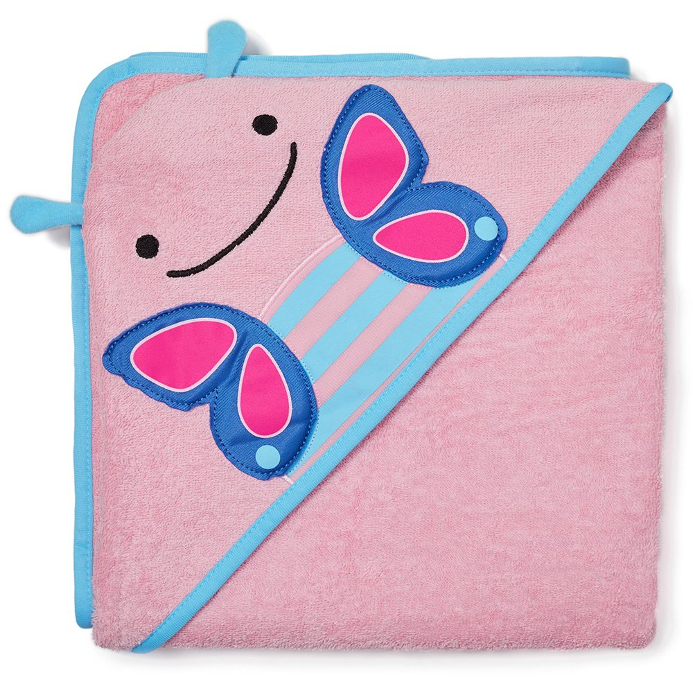 Skip Hop Baby Hooded Towel, 100% Cotton French Terry, Butterfly 235294