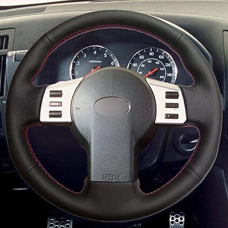 Amazon.com: Loncky Black Genuine Leather Auto Custom Steering Wheel Covers for Infiniti FX35 FX45 2003 2004 2005 2006 2007 2008 / Nissan 350Z 2003 2004 2005 ...