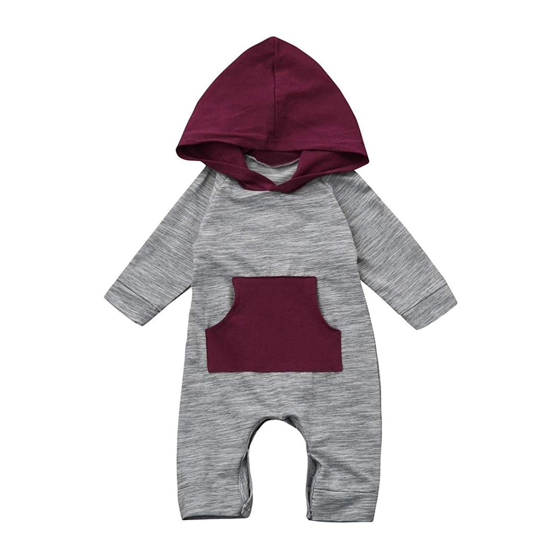 C& M Wodro Baby Boy Girl Cute Hooded Romper Bodysuit Clothes