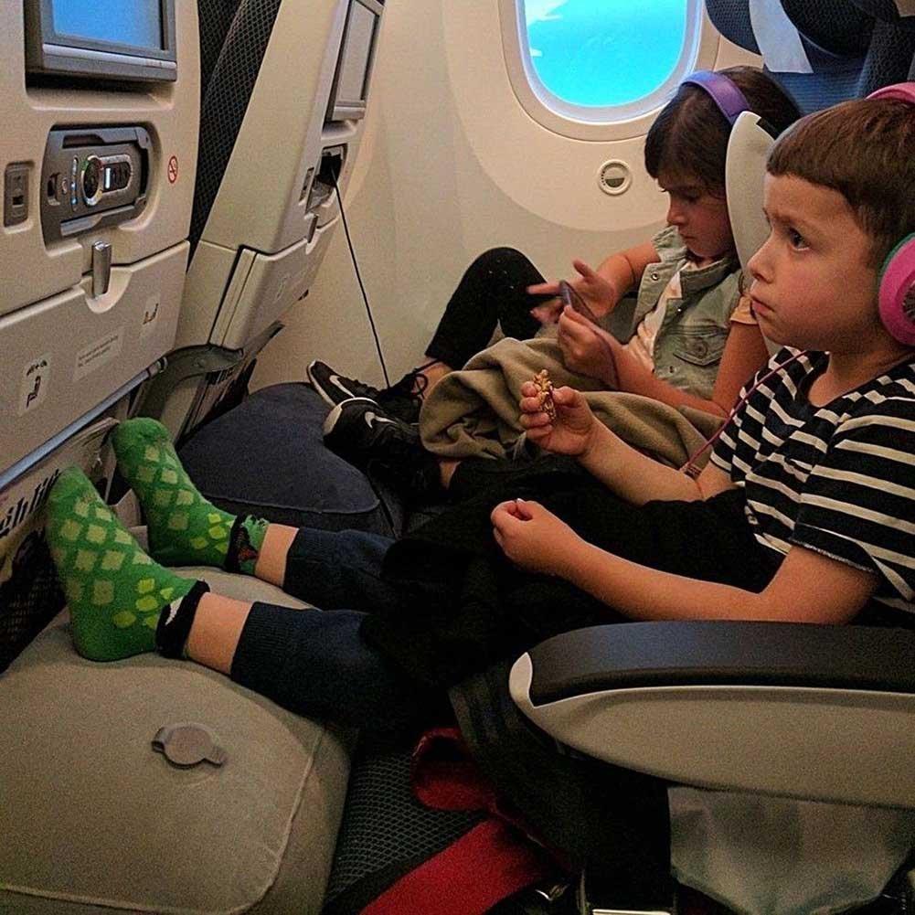 Alftek Gonflable Oreiller de Voyage Repose-Pieds Repose-Pieds Repose-Pieds Oreiller de Voyage pour Avions Bus Trains Enfants Lit Small
