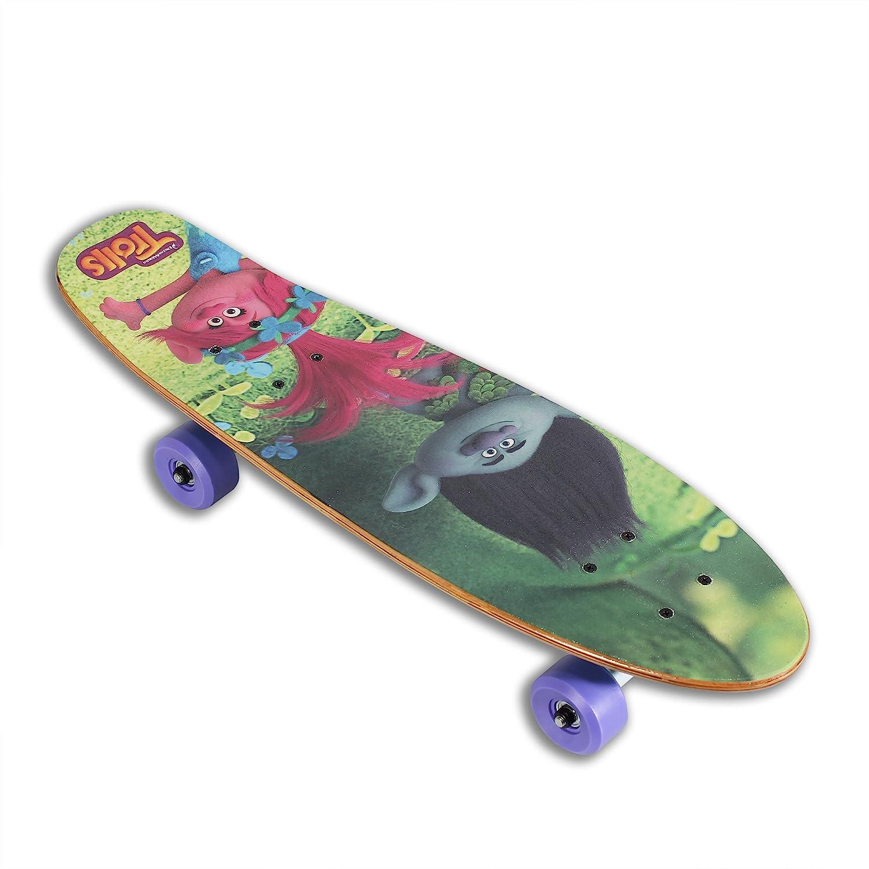 2-in-1 Skateboard and Scooter for Kids PlayWheels Trolls 26 Inch Scoot Skateboard