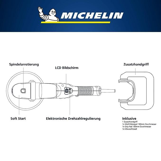 Michelin Poliermaschine 1100W mit stufenloser Drehzahlregelung 0-3000 U//min