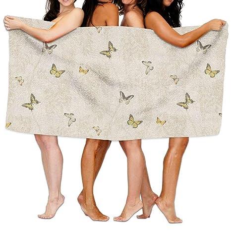 2018 Pantalones Wisteria & Mariposa Impresión baño Playa Toallas