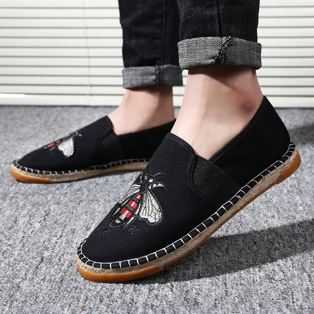Herrenschuhe FEIFEI Herren Freizeitschuhe Mode Breathable Casual Canvas Schuhe Fischer Schuhe faule Schuhe (Farbe   Silber, größe   EU41 UK7.5-8 CN42)