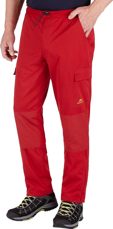 Nordcap Herren Funktionshose Outdoorhose lang mit Thermofutter gefüttert superleicht wasserdicht und atmungsaktiv mit aufgesetzten Taschen für alle Sport- und Outdooraktivitäten rostrot