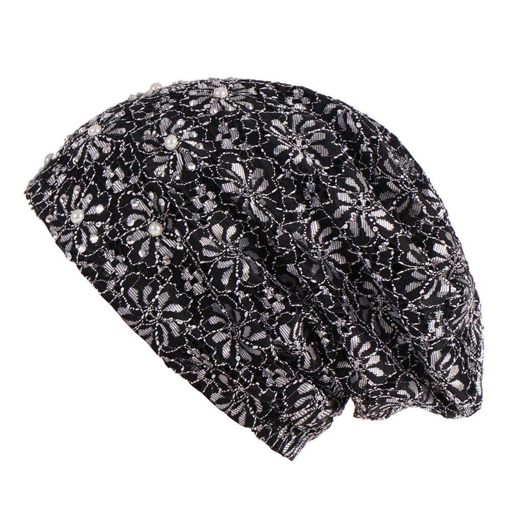 Respctful ♪☆ Hat Clearancesales,Women Lace Flower Cotton Chemo Hat Beanie Scarf Soft Turban Cap
