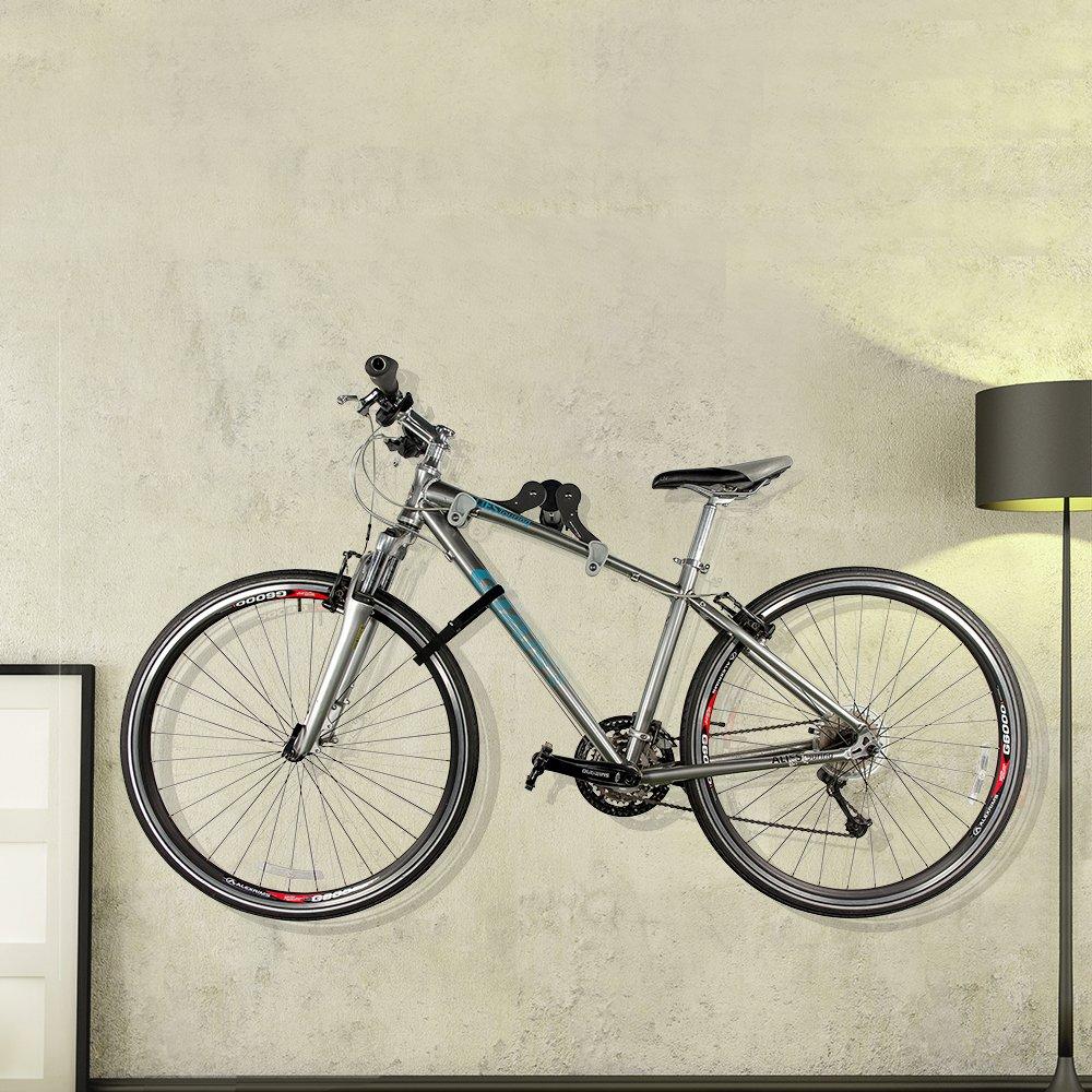 Ibera Horizontal Bicycle Bike Wall Hanger, Bike Hook Holder Storage Rack For Indoor Storage, 45 Degree Adjustable Angle To Keep Your Bike Level by Ibera (Image #6)