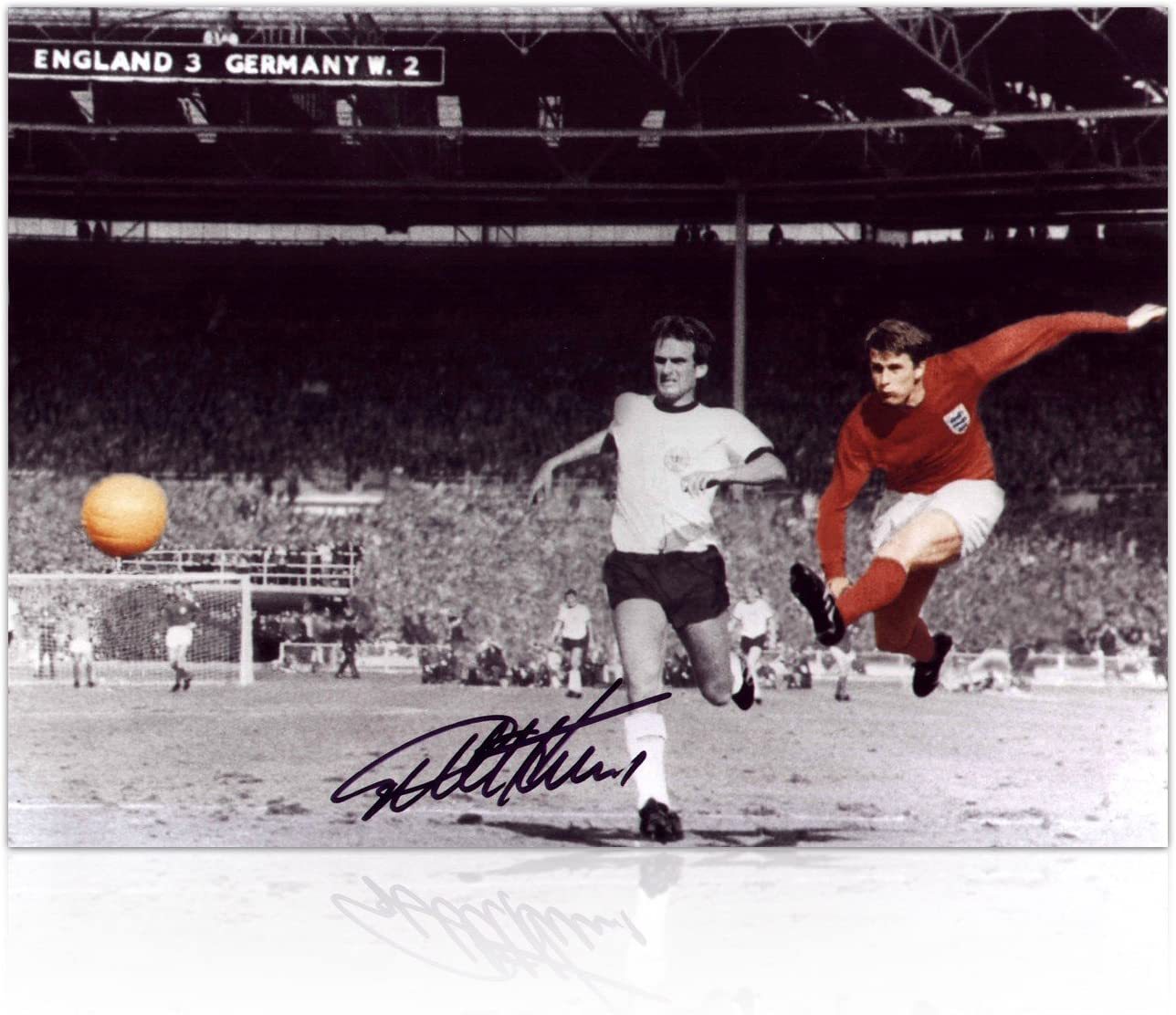 Sir Geoff Hurst Firmado Foto: 1966 Copa del Mundo de Meta: Amazon ...