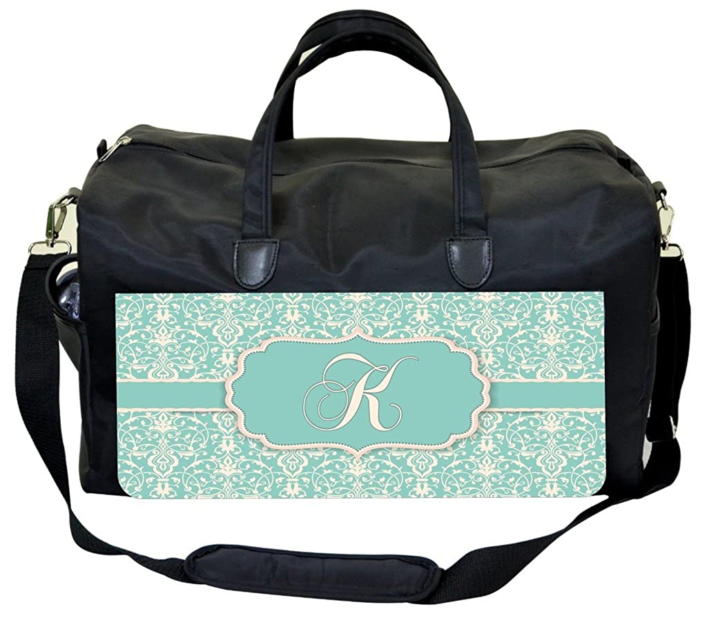 Lacey Damask Print Personalization Custom Therapist Bag
