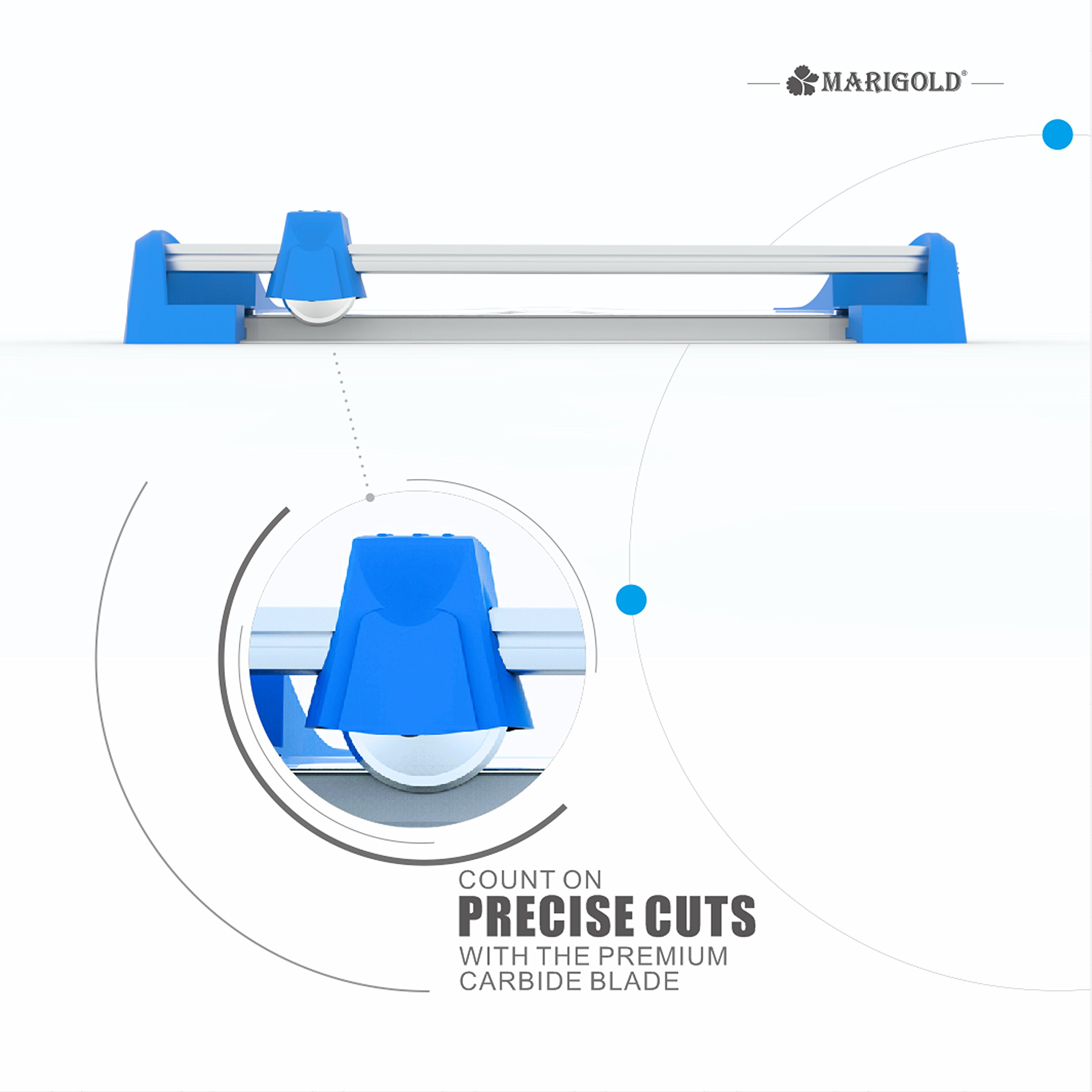 Marigold 12'' Professional Titanium Rotary Paper Trimmer Cutter (TR410) by Marigold (Image #4)