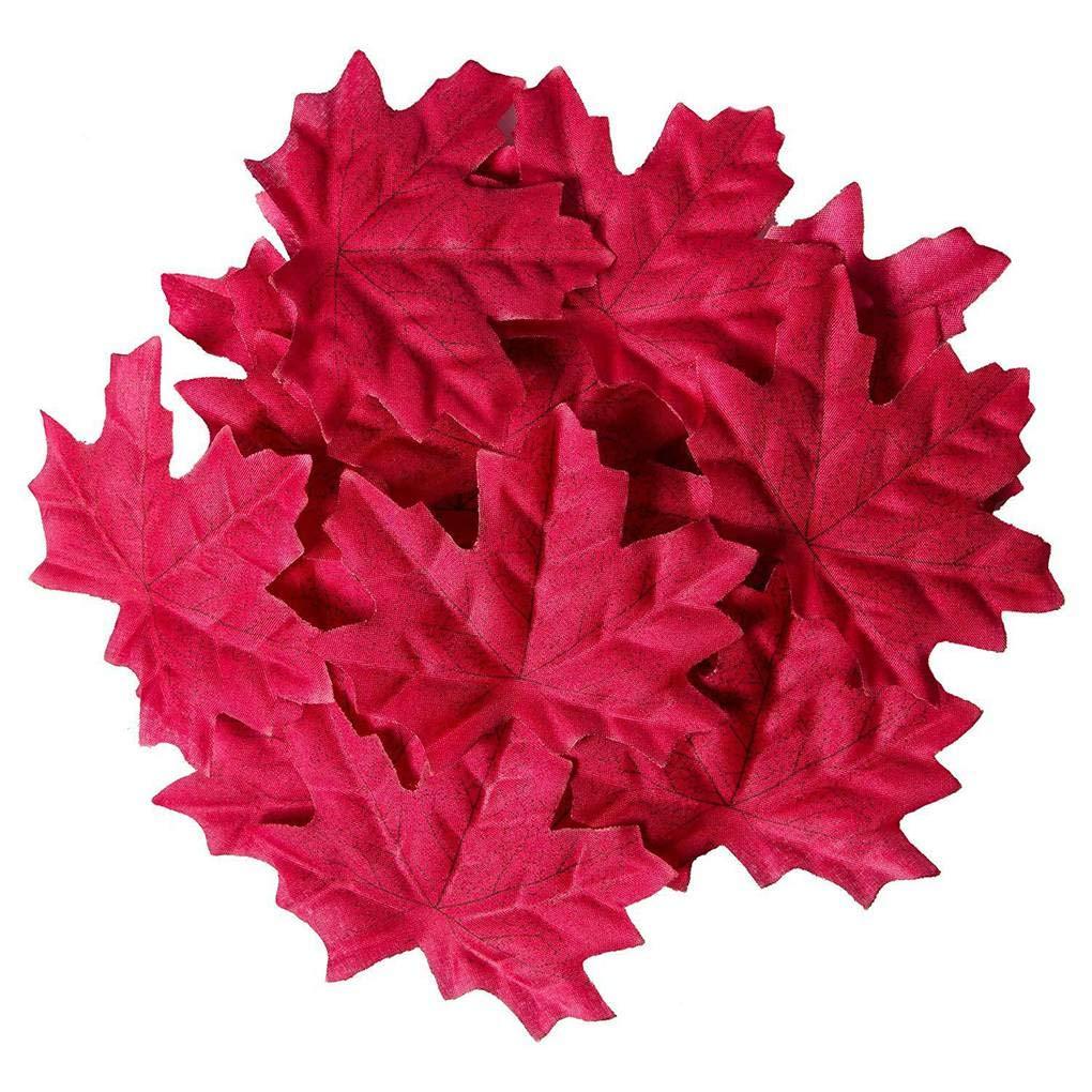 Provide The Best 200Pcs//300Pcs//400Pcs//500Pcs//1000Pcs Artificial Maple Leaves Fall Silk Leaves Natural Autumn Decorations Random Color