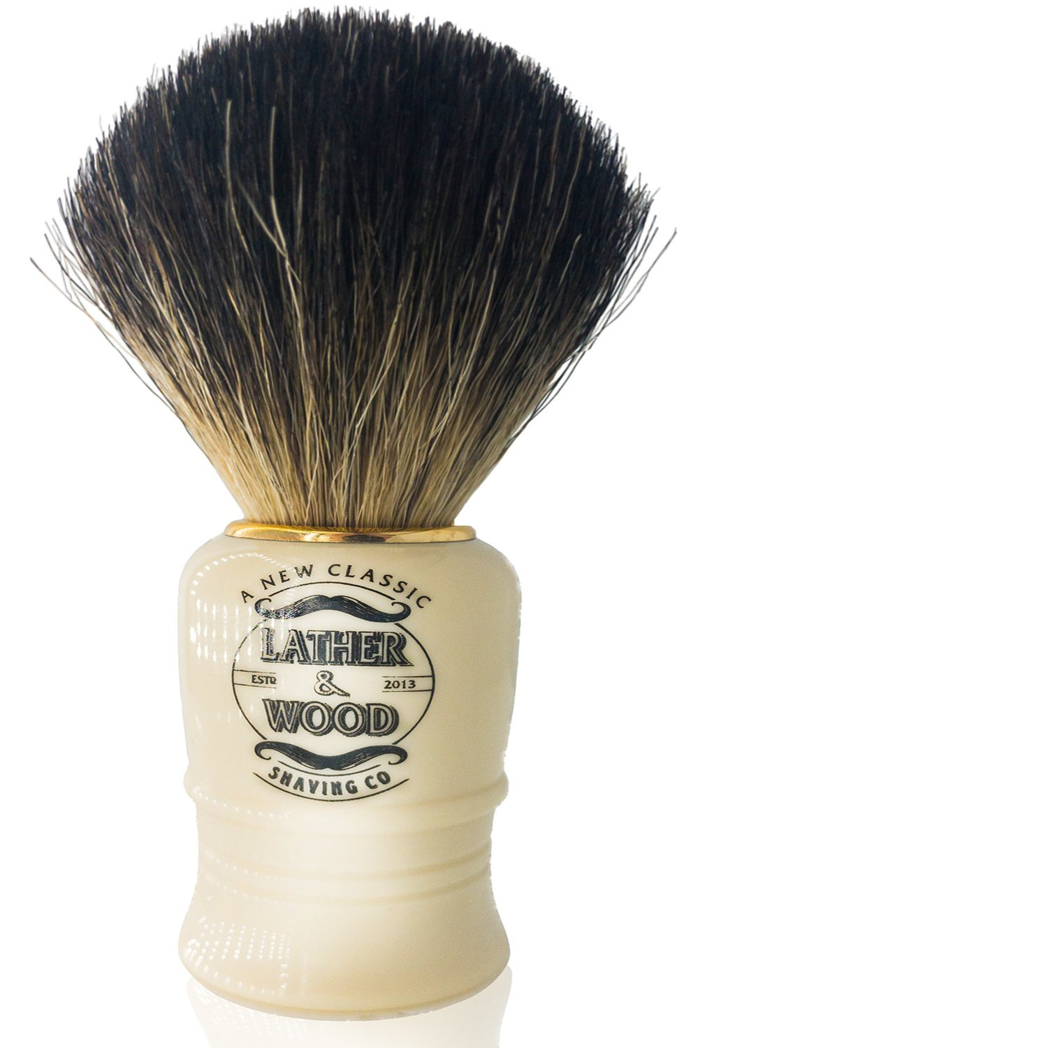 Pure Badger Shaving Brush –Premium Handmade in England – Simply the Best Luxury Men's Shave Brush (Pure Badger)