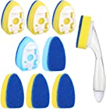 Dish Wand and Refills Sponge Replacement Head Set Scrubber Pad Non-Scratch