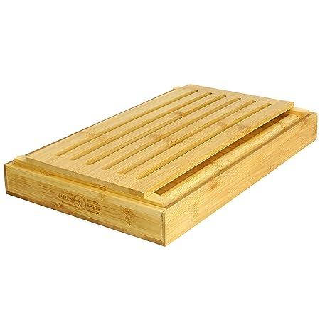 Compra Maison & White Cortadora de pan de bambú | Tabla y guía de ...