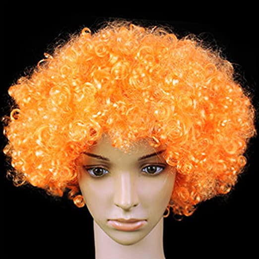 Amazon.com: LED peluca, peluca de payaso Coxeer Funny brilla ...