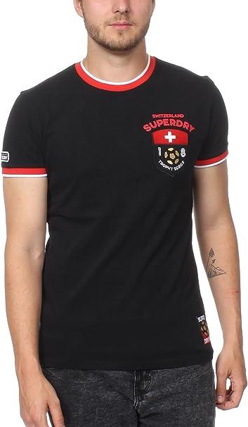 Superdry T Shirt Herren Switzerland Trophy Series Tee Black