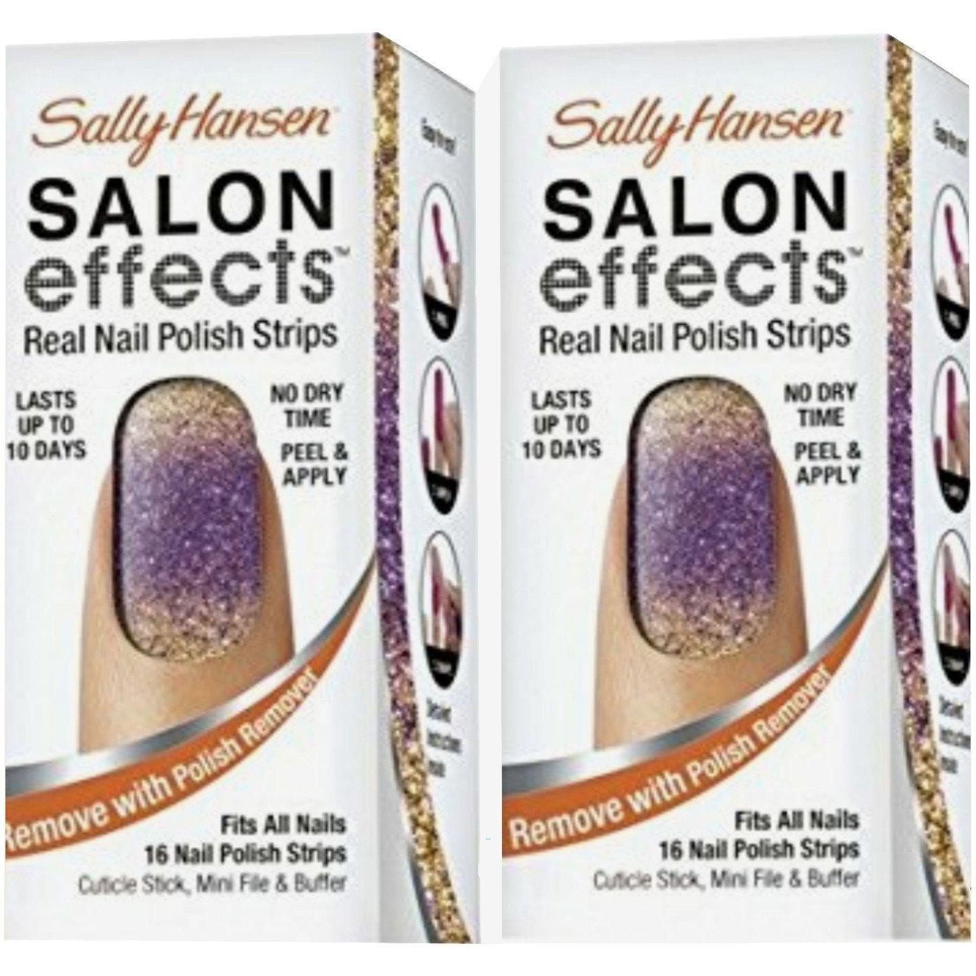 Amazon.com : Sally Hansen Salon Effects Real Nail Polish Strips ...