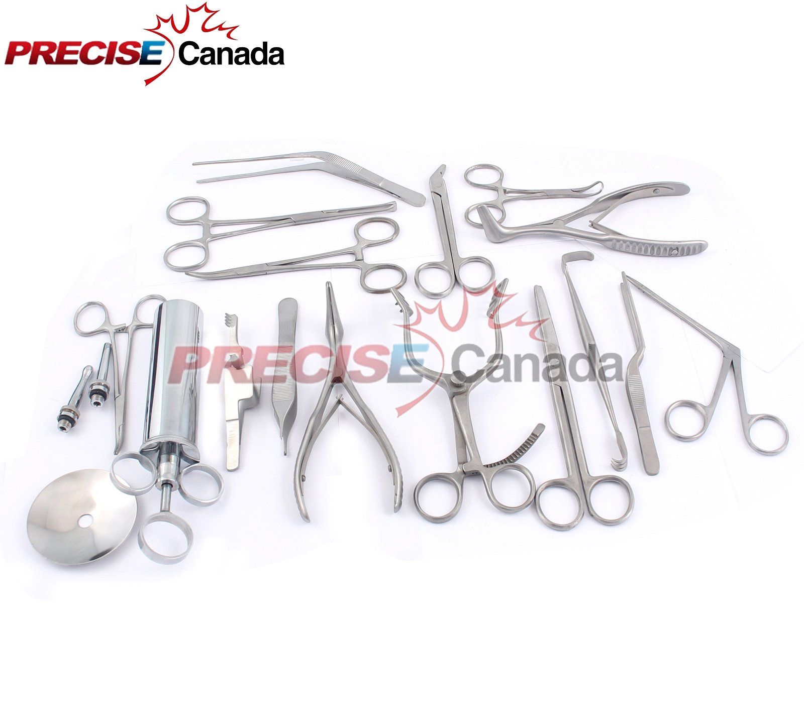 PRECISE CANADA: NEW SET OF 16 PCS ( ENT ) EAR AND NOSE INSTRUMENTS FORCEPS VIENNA NASAL SPECULUM HARTMAN ALLIGATOR ! EAR SYRINGE SCISSORS NEW by PRECISE CANADA