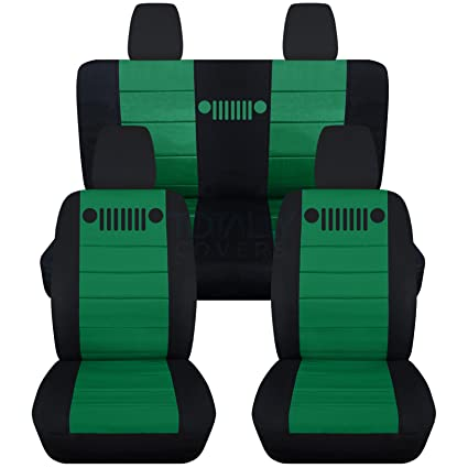 Fine Totally Covers Fits 2011 2018 Jeep Wrangler Jk Seat Covers Black Emerald Green Full Set Front Rear 23 Colors 2012 2013 2014 2015 2016 2017 Machost Co Dining Chair Design Ideas Machostcouk