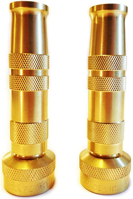Amazon.com : High Pressure Lead-Free Brass 2 Hose Nozzles with 6 ...