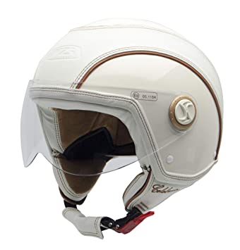 NZI 150213G300 Celebrities - Casco de Moto, Color Crema, Talla 57 (M)