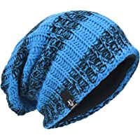 c81c05eed45 JESSE · RENA Men Slouchy Beanie Knit Skull Cap Lined Baggy Winter Hat  Oversized CFB08