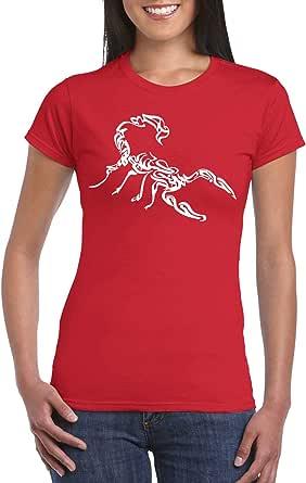 Red Female Gildan Short Sleeve T-Shirt - Scorpion – Arabic calligraphy design