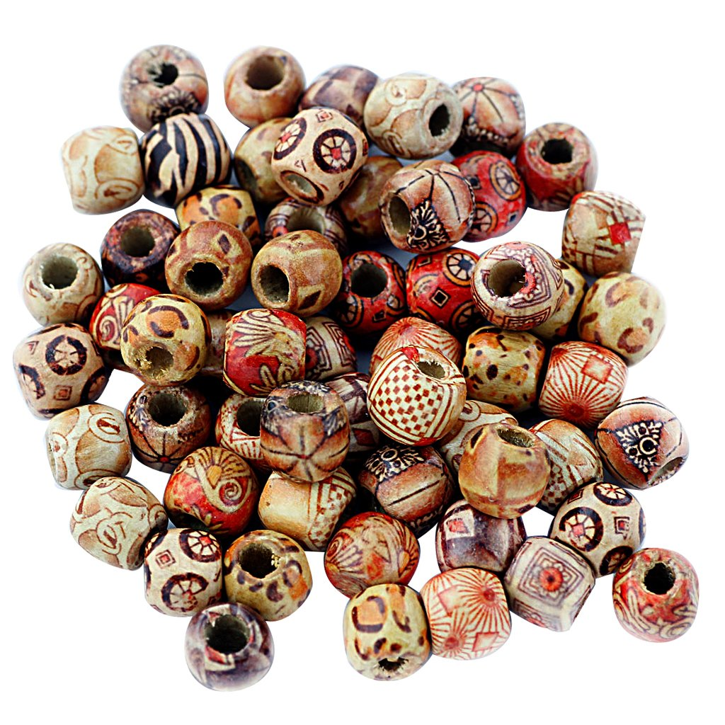 100Pcs Wooden Beads Ball Beads Spacer Beads DIY Craft Jewellery, #2, One Size G KKTPY0481