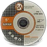 "5"" x .045"" x 7/8"" Type 1 Aluminum Cutting Wheels (25 Pack)"
